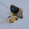 australian blue sapphire and diamond ring